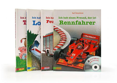 Kinderbuch Paket Ich habe einen Freund, der ist ... 4 Bände von Ralf Butschkow für 7,95€