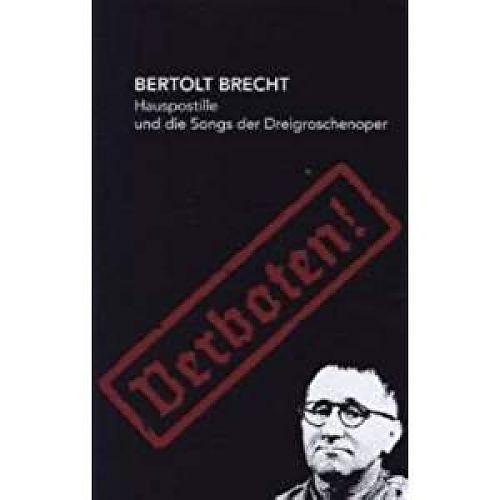 Hauspostille und die Songs der Dreigroschenoper - Verboten von Bertolt Brecht für 2,95€
