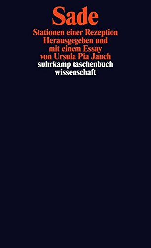 Sade. Stationen einer Rezeption von Ursula Pia Jauch Hg. für 7,95€