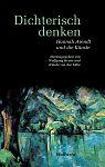 Dichterisch denken. Hannah Arendt und die Künste von Irmela von der Lühe Hg. Wolfgang Heuer für 9,95€