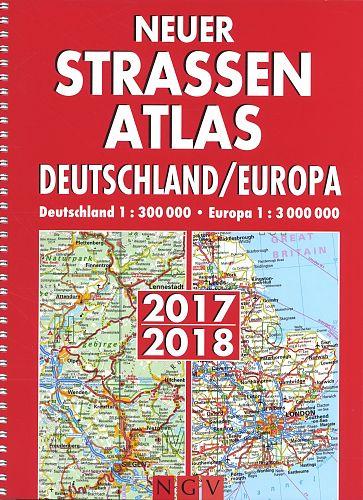 Neuer Straßenatlas DeutschlandEuropa 201718 für 4,99€