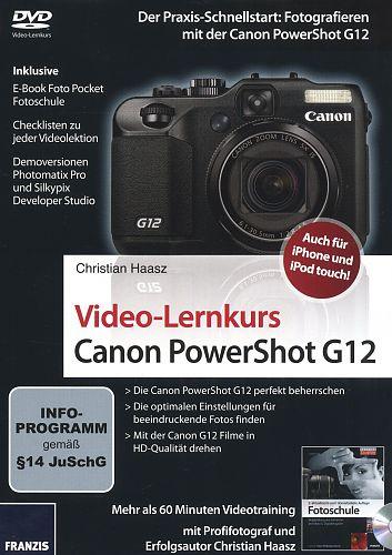 Video-Lernkurs Canon PowerShot G12 von Christian Haasz für 3,95€