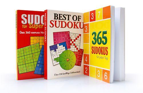 Das Sudoku-Paket für Superprofis. 3 Bände für 9,95€