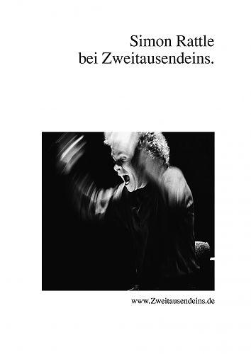 Zweitausendeins Notizbuch Motiv Simon Rattle für 2,95€