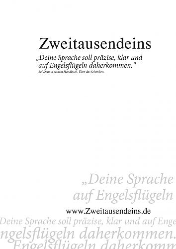 Zweitausendeins Notizbuch Zitat Sol Stein II für 2,95€