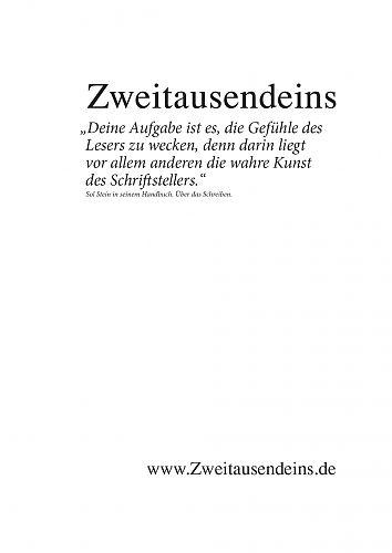 Zweitausendeins Notizbuch Zitat Sol Stein III für 2,95€