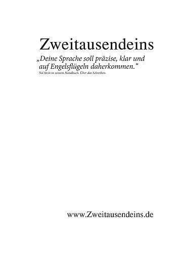 Zweitausendeins Notizbuch Zitat Sol Stein IV für 2,95€