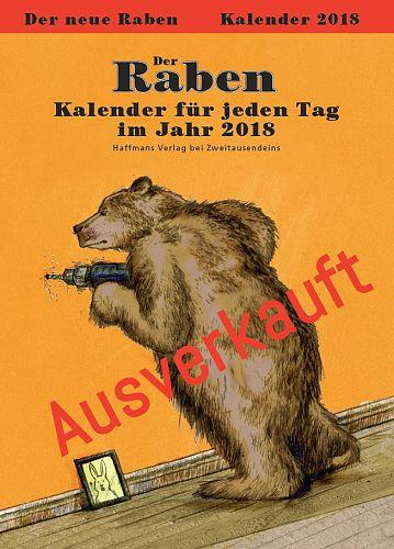Der Raben-Kalender 2018 für 16,95€