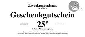 Geschenkgutschein: 25 Euro für 25,00€