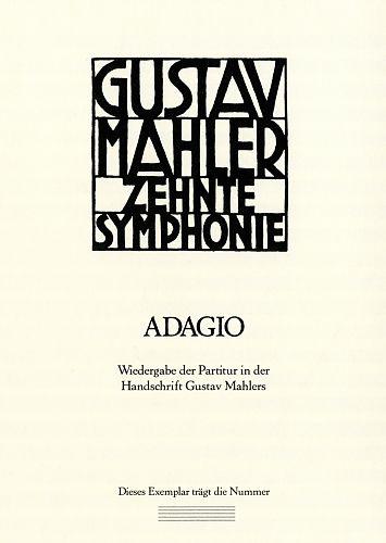 Zehnte Symphonie. Adagio von Gustav Mahler für 11,95€