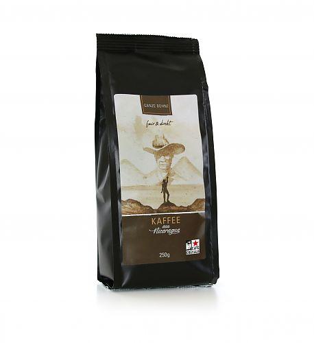 Kaffee Nicaragua, ganze Bohne, 250g für 7,99€